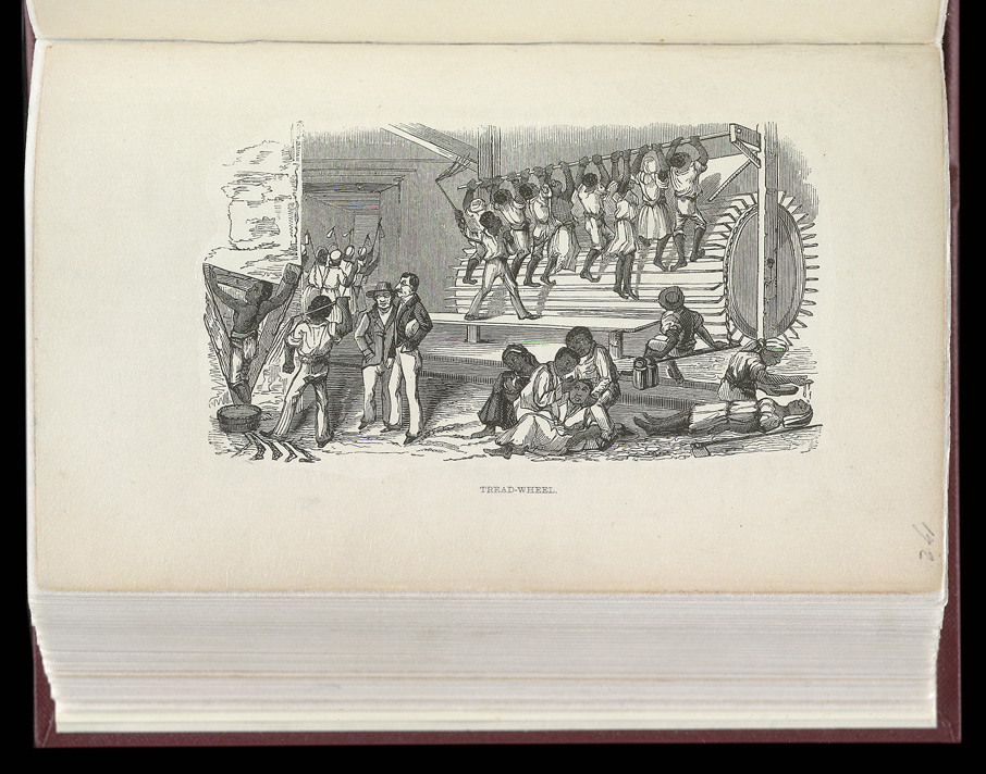 Illustration of a tread-wheel from James Mursell Phillippo's 'Jamaica: It's Past and Present State.', 1843